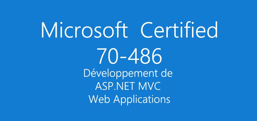 Examen 70-486 : Développement de ASP.NET MVC Web Applications